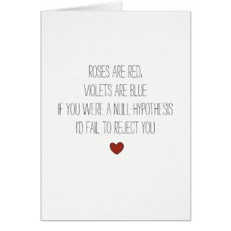 ブランク仮説の真面目な数学の冗談のバレンタインカード カード