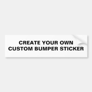 ブランク-あなた自身のカスタムなバンパーステッカーを作成して下さい バンパーステッカー