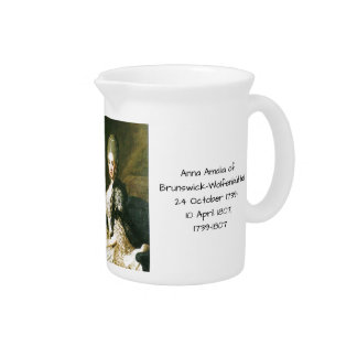 ブランズウィックWolfenbuttel 1739-1807年のアナAmalia ピッチャー