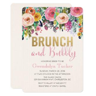 ブランチおよび快活なブライダルシャワーの招待状 カード