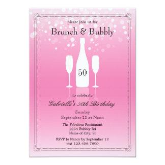 ブランチおよび快活な誕生日の招待状 カード