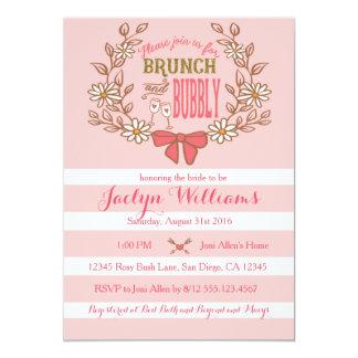 ブランチおよび泡ブライダルシャワーの招待状 カード