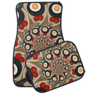 ブランチのフラクタルの芸術のおもしろいな食糧、トマト、卵 カーマット