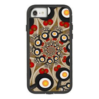 ブランチのフラクタルの芸術のおもしろいな食糧、トマト、卵 Case-Mate TOUGH EXTREME iPhone 8/7ケース