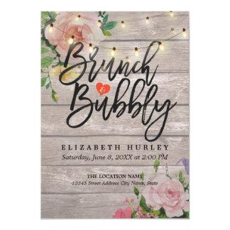 ブランチの快活なブライダルシャワーの花のひもライト カード