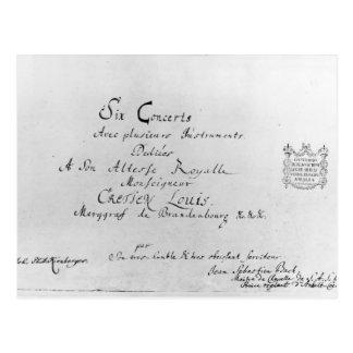 ブランデンブルクのコンチェルト1721年 ポストカード
