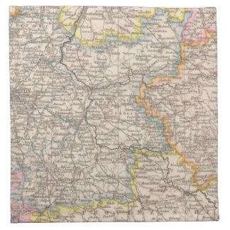 ブランデンブルクのPosenの地図書の地図 ナプキンクロス