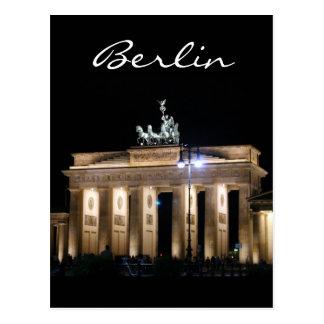 ブランデンブルク夜ベルリン ポストカード