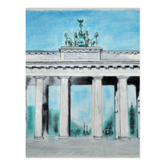 ブランデンブルク門のスケッチ ポストカード