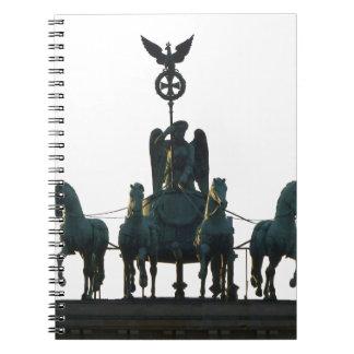 ブランデンブルク門のベルリンのQuadriga ノートブック
