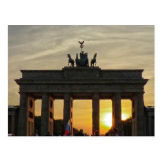 ブランデンブルク門の日没、ベルリン ポストカード