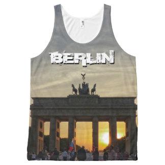 ブランデンブルク門、日没、ベルリン オールオーバープリントタンクトップ