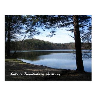 ブランデンブルク、ドイツの湖 ポストカード