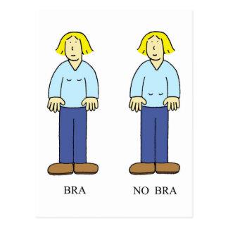 「ブラ女性のためのブラ無し」カード老化のユーモア。「 ポストカード