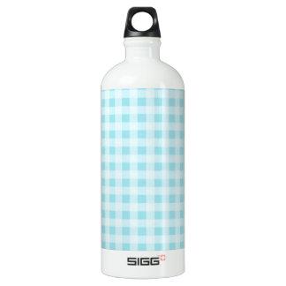 ブリザードの青のギンガム; チェック模様 ウォーターボトル