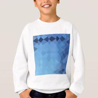 ブリザードの青の抽象芸術の低い多角形の背景 スウェットシャツ