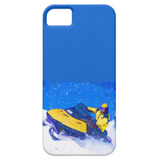 ブリザードの黄色いスノーモービル iPhone SE/5/5s ケース