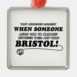 ブリストルのおもしろいなデザイン メタルオーナメント