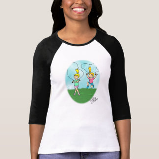 ブリストルの大きい願い-縄跳び-女性のティー Tシャツ