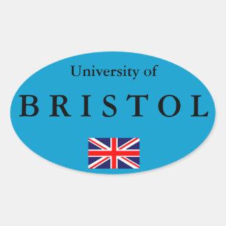 ブリストル大学ヨーロッパの楕円形のステッカー 楕円形シール