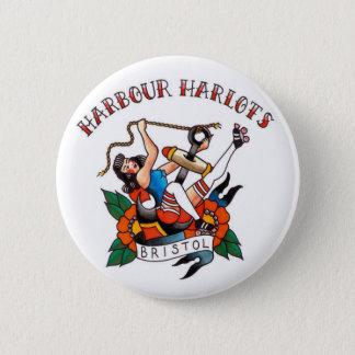 ブリストル港のHarlotsボタン 5.7cm 丸型バッジ