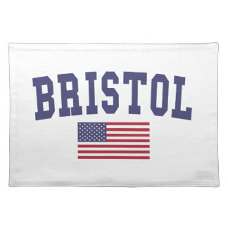 ブリストル米国の旗 ランチョンマット