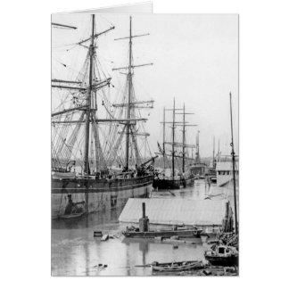 ブリスベーン:  ワシの通りの波止場1893年 カード