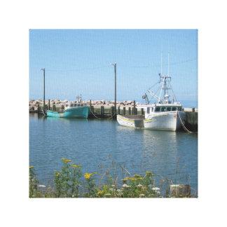 ブリッジタウンノバスコシアの漁船のキャンバス キャンバスプリント