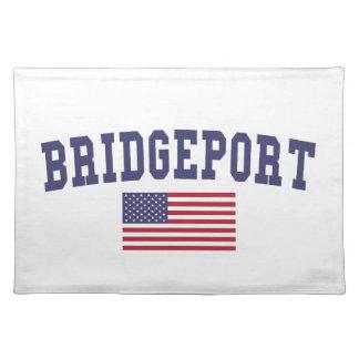 ブリッジポート米国の旗 ランチョンマット