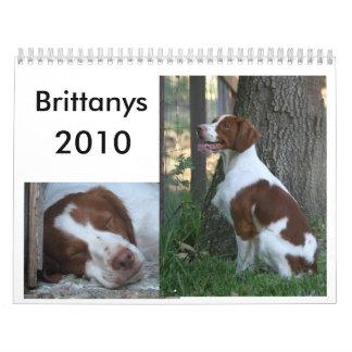 ブリッタニーのカレンダー2010年 カレンダー