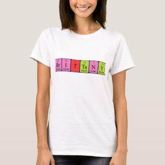 ブリッタニーの周期表の名前のワイシャツ Tシャツ