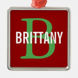 ブリッタニーの品種モノグラムのデザイン メタルオーナメント