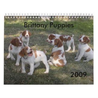 ブリッタニーの子犬のカレンダー2009年 カレンダー