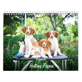ブリッタニーの子犬のカレンダー カレンダー