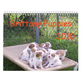 ブリッタニーの子犬2010年 カレンダー
