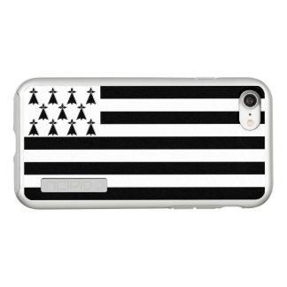 ブリッタニーの銀製のiPhoneの場合の旗 Incipio DualPro Shine iPhone 8/7ケース