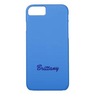 ブリッタニーの青いスタイルのiPhoneカバー iPhone 8/7ケース