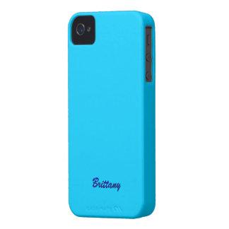 ブリッタニーのsmartphoneは青いiphone 4カバーを包装します Case-Mate iPhone 4 ケース