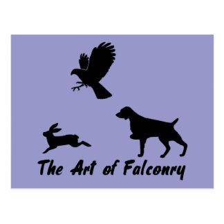 ブリッタニースパニエル犬および鷹狩 ポストカード