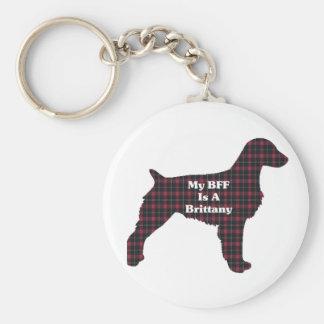 ブリッタニースパニエル犬のギフト キーホルダー