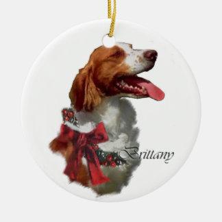ブリッタニースパニエル犬のクリスマスのギフトのオーナメント セラミックオーナメント
