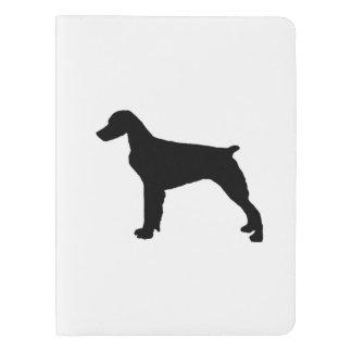 ブリッタニースパニエル犬のシルエット愛はシルエットの後をつけます エクストララージMoleskineノートブック