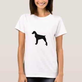 ブリッタニースパニエル犬のシルエット愛はシルエットの後をつけます Tシャツ