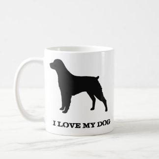 ブリッタニースパニエル犬のシルエット コーヒーマグカップ