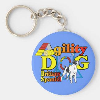 ブリッタニースパニエル犬の敏捷のギフト キーホルダー
