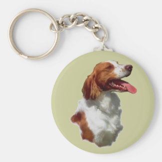 ブリッタニースパニエル犬の芸術のギフト キーホルダー
