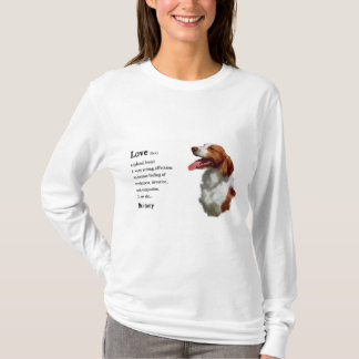 ブリッタニースパニエル犬の芸術のギフト Tシャツ
