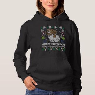 ブリッタニースパニエル犬犬の品種醜いクリスマスのセーター パーカ