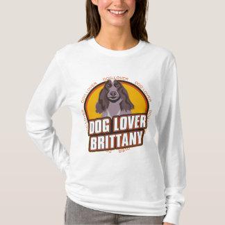 ブリッタニースパニエル犬犬の恋人 Tシャツ