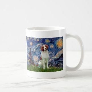 ブリッタニースパニエル犬3 -星明かりの夜 コーヒーマグカップ